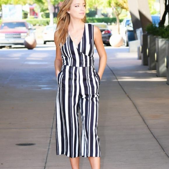 197f39086b36 Striped Jumpsuit BlackAnd white. Boutique